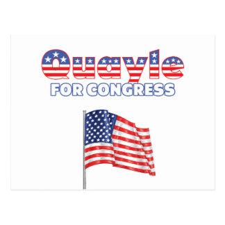 Quayle for Congress Patriotic American Flag Design Postcards