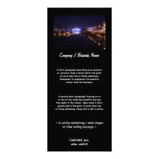 Quayside View at Night Rack Card