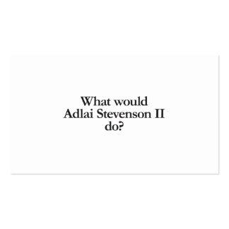 qué adlai stevenson II haría Tarjetas De Visita
