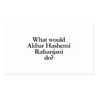 qué Akbar Hashemi rafsanjani haría Tarjetas De Visita