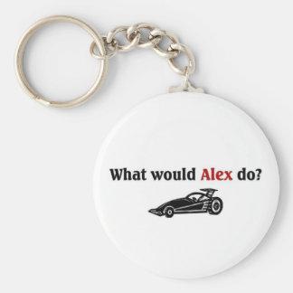 Qué Alex haría Llavero Redondo Tipo Pin