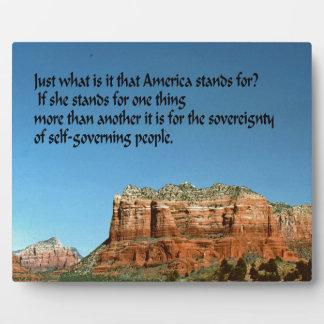 ¿Qué América representa? Placas Para Mostrar