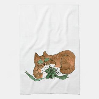 ¿Qué arco verde? pide el gatito Toalla De Cocina