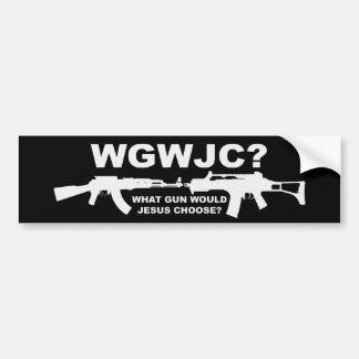 ¿Qué arma Jesús elegiría? Pegatina Para Auto