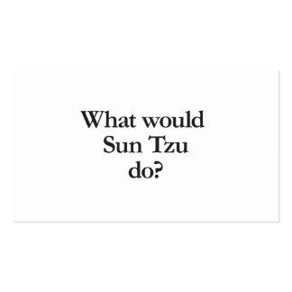 qué asolearía tzu haga tarjetas de visita