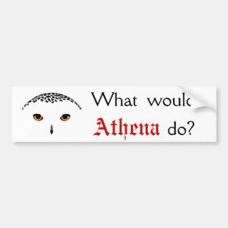 ¿Qué Athena haría? Pegatina Para Auto
