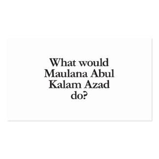 qué azad del kalam del abul del maulana haría tarjetas de visita