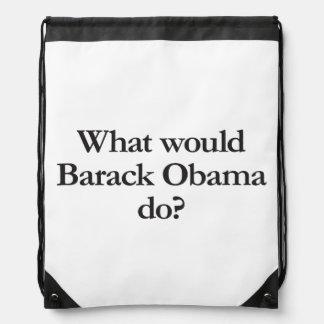qué Barack Obama haría Mochila