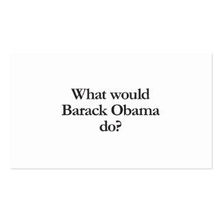 qué Barack Obama haría Tarjetas De Visita