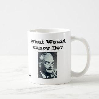 ¿Qué Barry haría? Taza Básica Blanca