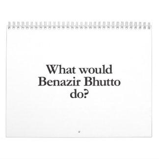 qué Benazir Bhutto haría Calendarios
