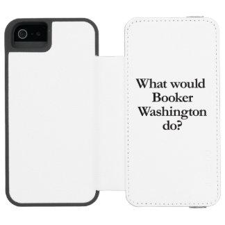 qué booker Washington haría Funda Cartera Para iPhone 5 Watson
