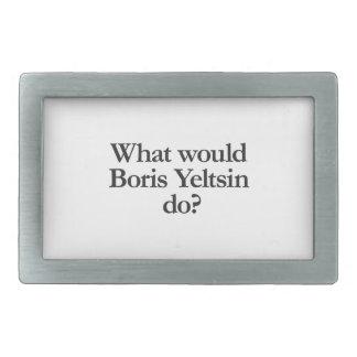 qué Boris Yeltsin haría Hebilla Cinturon Rectangular