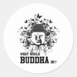 Qué Buda haría Etiqueta Redonda