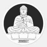 ¿Qué Buda haría? Pegatina Redonda