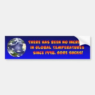 ¿Qué calentamiento del planeta? Etiqueta De Parachoque