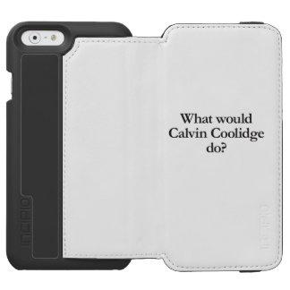 qué Calvin Coolidge haría Funda Cartera Para iPhone 6 Watson