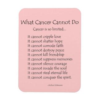 Qué cáncer no puede hacer el imán del poema (el te