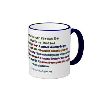 Qué cáncer no puede hacer (el texto del azul y del tazas de café