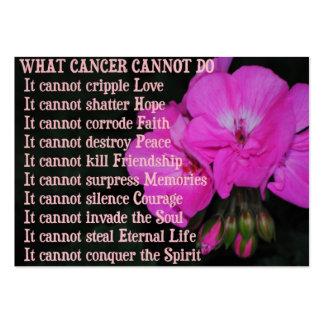Qué cáncer no puede hacer la tarjeta de visita ros