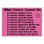 qué cáncer no puede hacer tarjetas