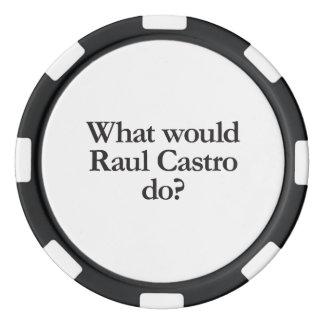qué castro de Raúl haría Juego De Fichas De Póquer