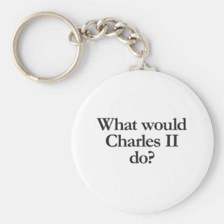 qué Charles II haría Llavero Redondo Tipo Pin