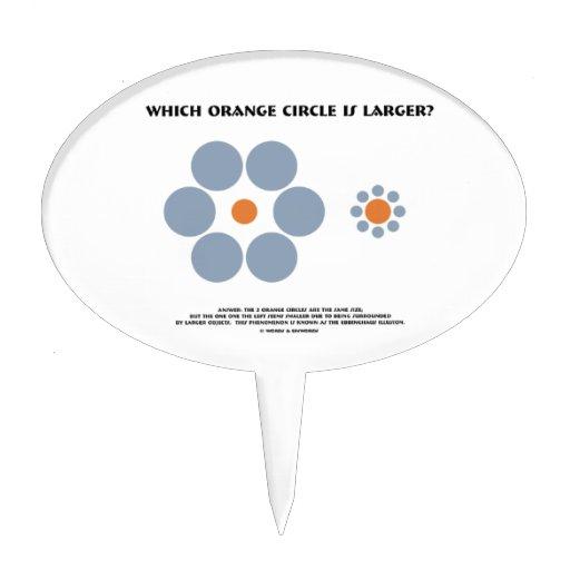 ¿Qué círculo anaranjado es más grande? (Ilusión óp Decoraciones Para Tartas