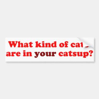 ¿Qué clase de gatos están en SU salsa de tomate Pegatina De Parachoque