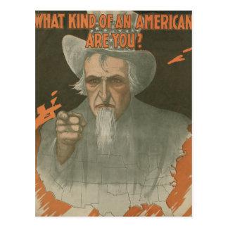 ¿Qué clase de un americano es usted? Postal
