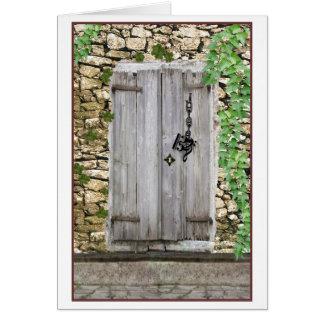 Qué Clef de la música como llave cabe la puerta Tarjeta De Felicitación