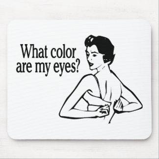 Qué color es mis ojos retros alfombrilla de raton