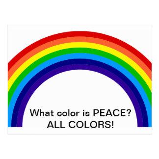 ¿Qué color es PAZ? Postal
