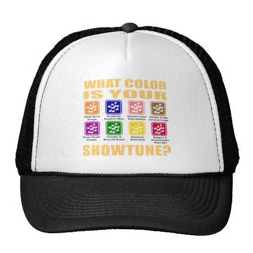 Qué color/gorra de Showtune