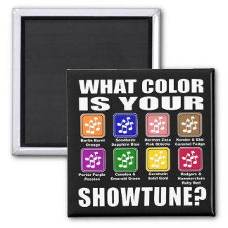 Qué color/imán de Showtune Imán Cuadrado