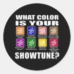 Qué color/pegatinas de Showtune Pegatinas Redondas