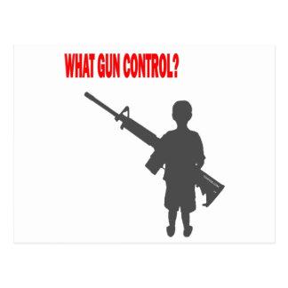 ¿Qué control de armas? Postal