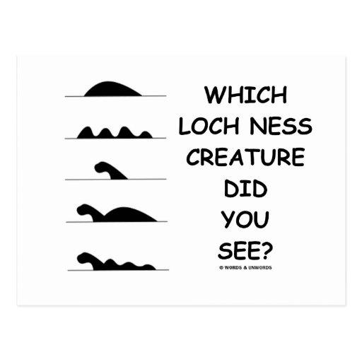 ¿Qué criatura de Loch Ness usted vio? Postales