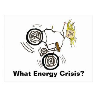 ¿Qué crisis de la energía? ¡Monte una bici! Postal