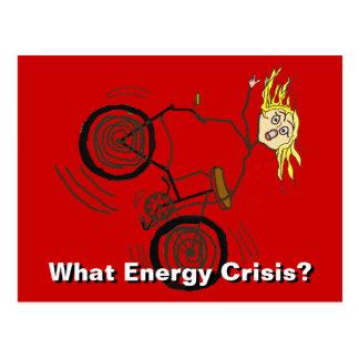 ¿Qué crisis de la energía? ¡Monte una bici! Tarjetas Postales