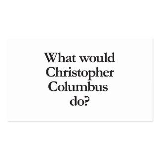 qué Cristóbal Colón haría Tarjetas De Visita