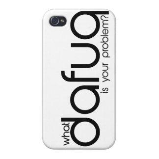 ¿Qué Dafuq es su problema caso del iPhone 5 iPhone 4 Carcasas