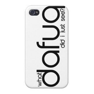 ¿Qué Dafuq usted dijo? caso del iPhone 5 iPhone 4/4S Carcasas