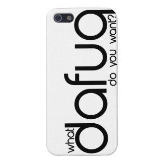 Qué Dafuq usted quiere. caso del iPhone 5 iPhone 5 Carcasa