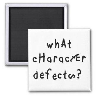 Qué defectos de carácter imán cuadrado