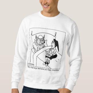 Qué dentaduras grandes usted tiene suéter