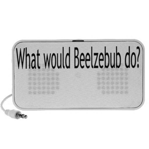 ¿Qué el Beelzebub haría? Mini Altavoces