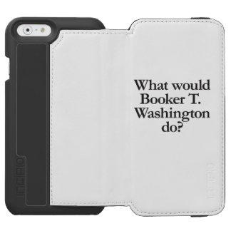 qué el booker t Washington haría Funda Cartera Para iPhone 6 Watson