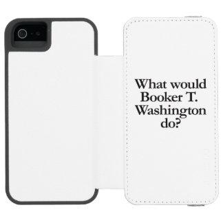 qué el booker t Washington haría Funda Cartera Para iPhone 5 Watson