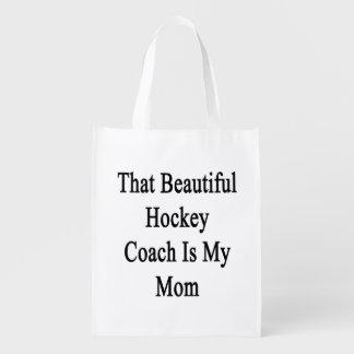 Que el coche de hockey hermoso es mi mamá bolsas reutilizables